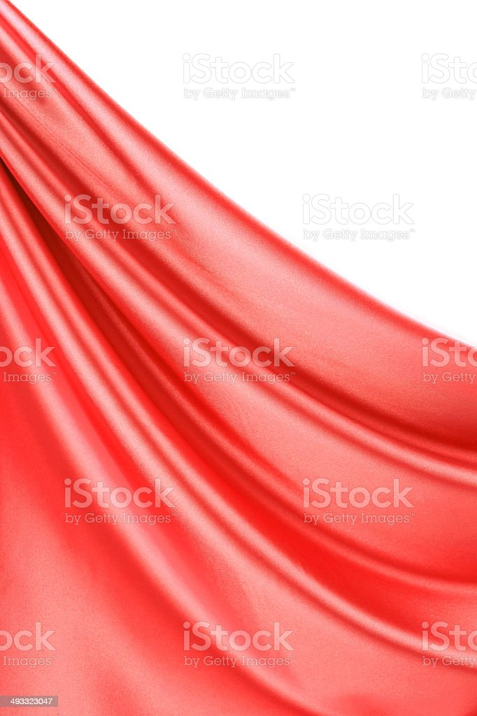 Close up of red silk with streams. royalty-free stock photo