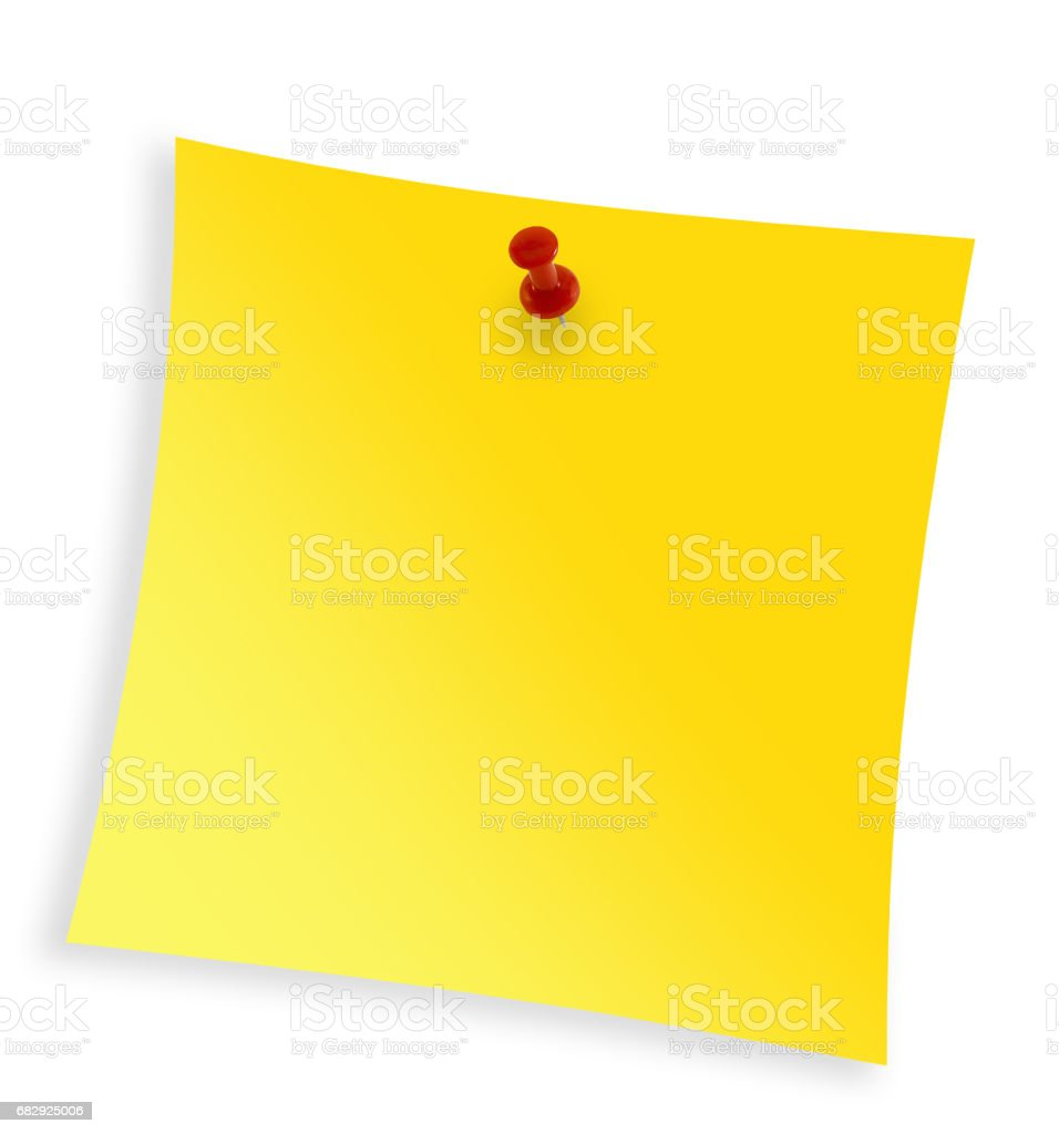 Close up of reminder on white background with clipping path stock photo