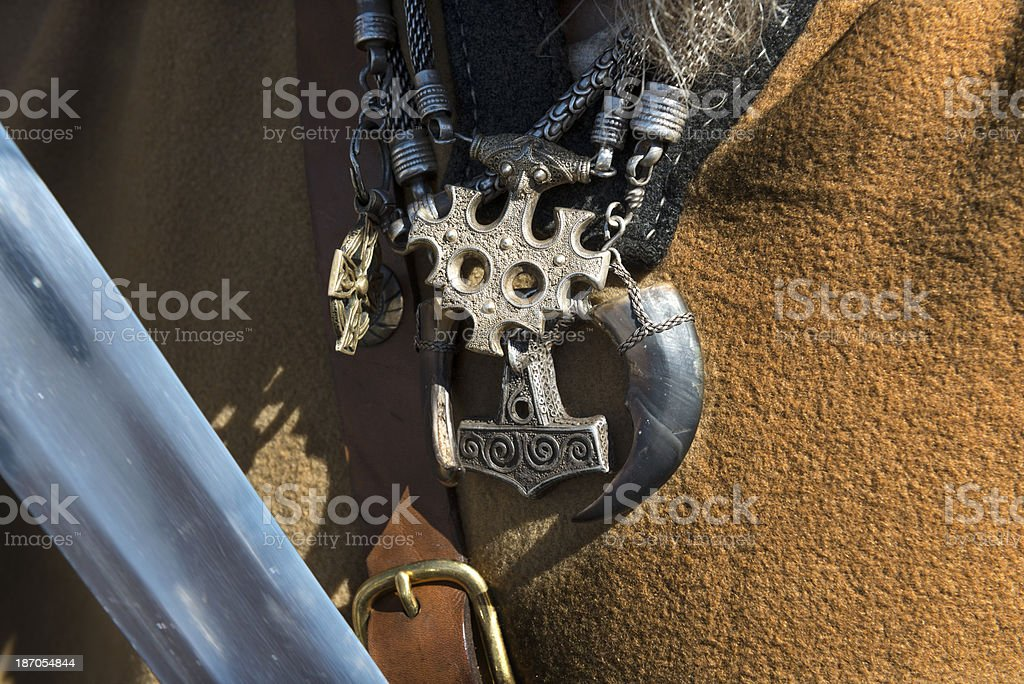 Close Up of Replica Viking Jewelry royalty-free stock photo
