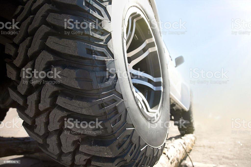Close up of rims car alloy wheel stock photo