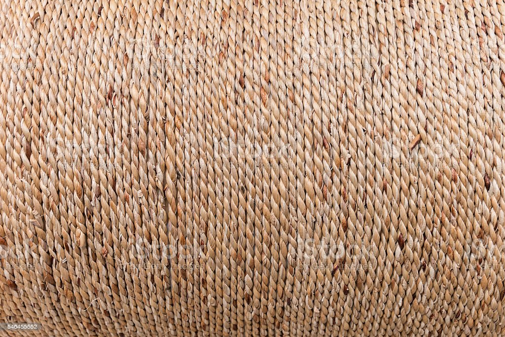Close up of rope made from plant, Texture stock photo