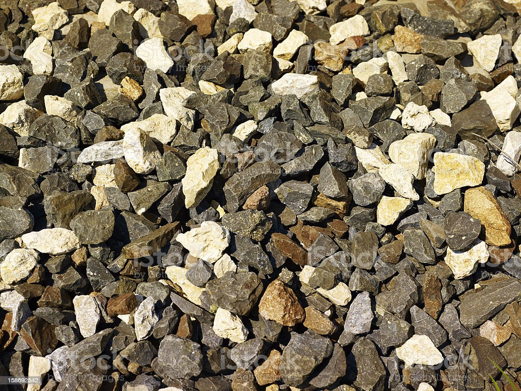 Close up of rough gravel stock photo