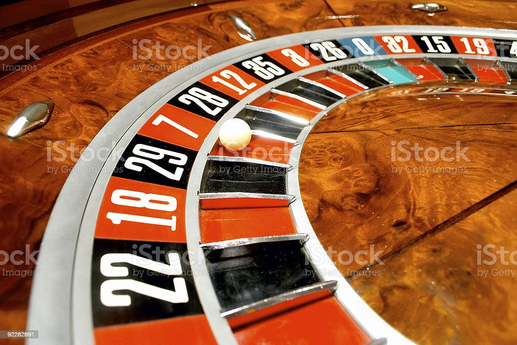 Close up of roulette game at a casino royalty-free stock photo