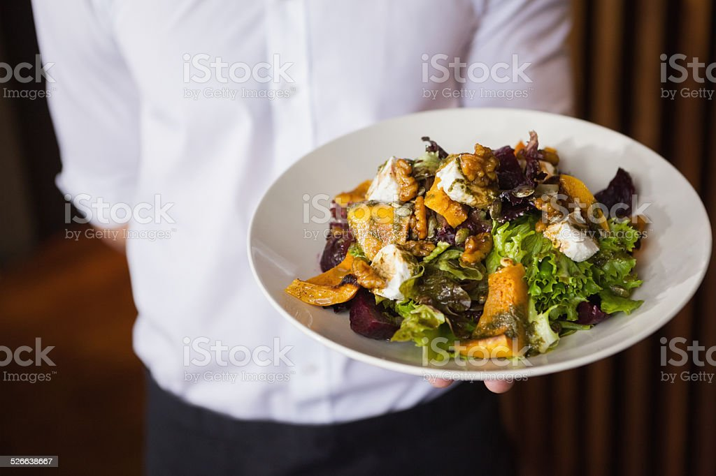 Close up of salad plate stock photo