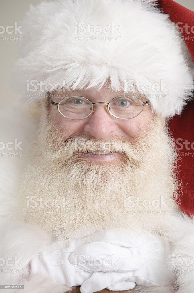 Close up of santa's face royalty-free stock photo