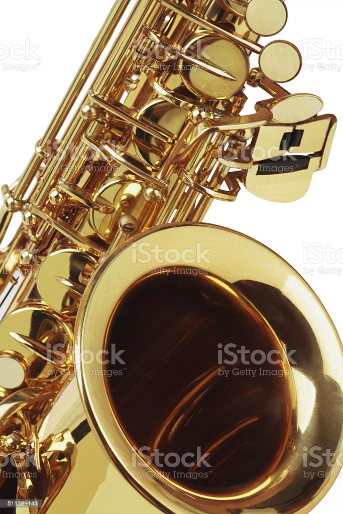 Close Up Of Saxophone stock photo