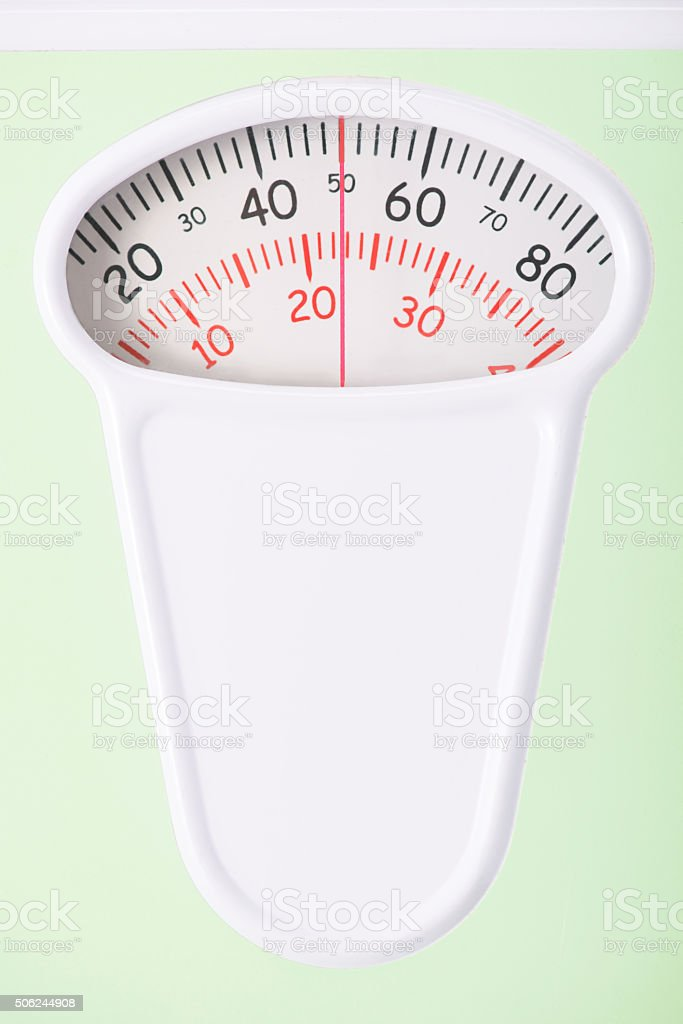 Close up of scales and its mechanical display stock photo