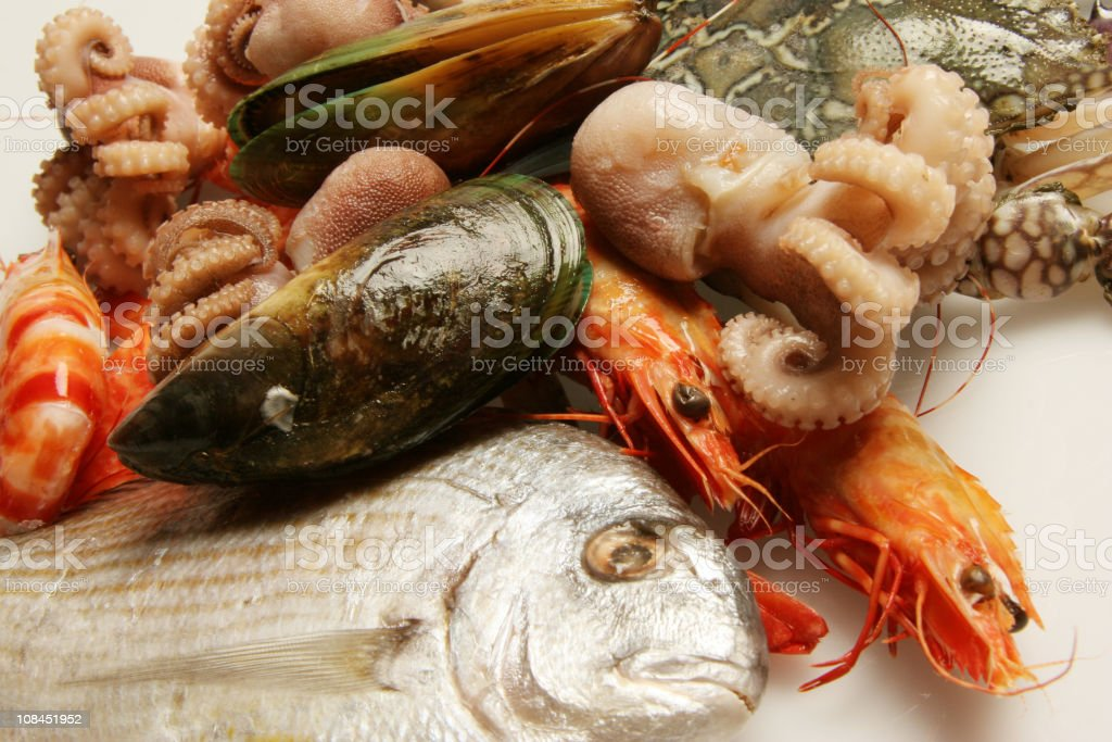 Close up of seafood royalty-free stock photo
