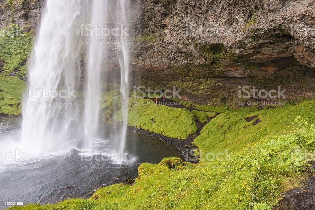 Close up of Seljalandsfoss waterfall - Iceland. royalty-free stock photo