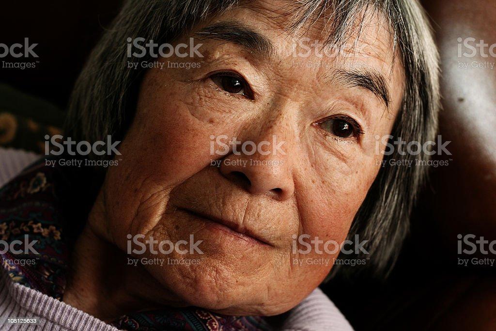 Close Up of Senior Japanese Woman royalty-free stock photo