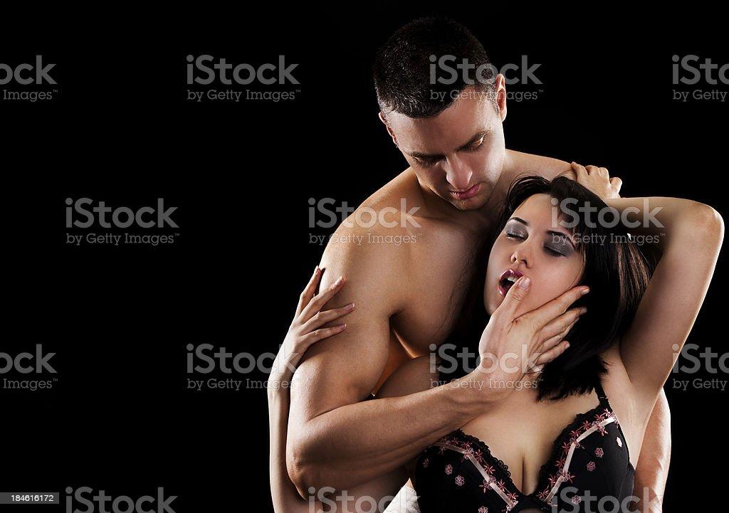 Close up of sensual couple royalty-free stock photo