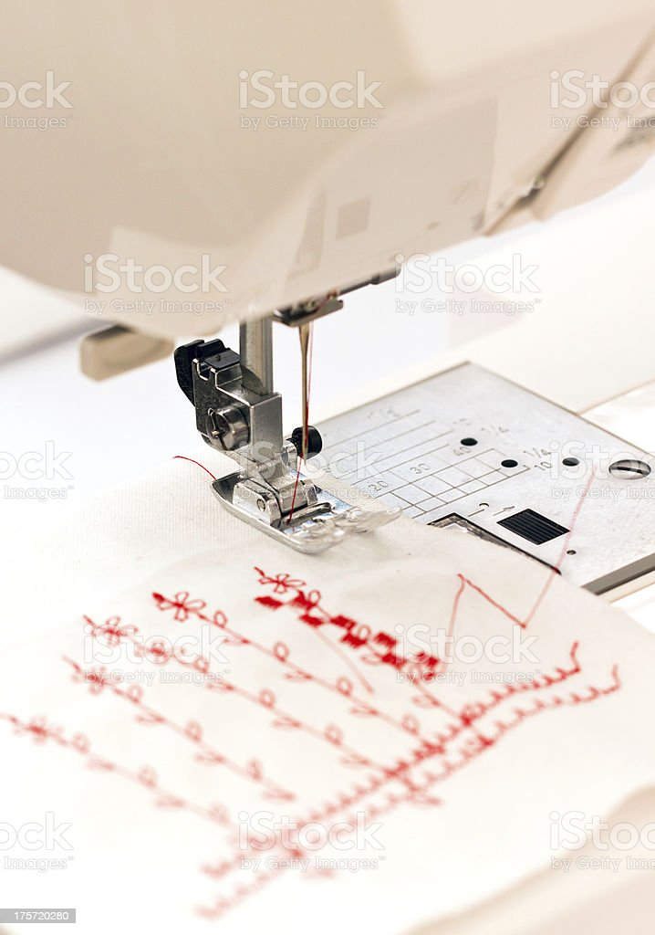 Close up of sewing machine. royalty-free stock photo
