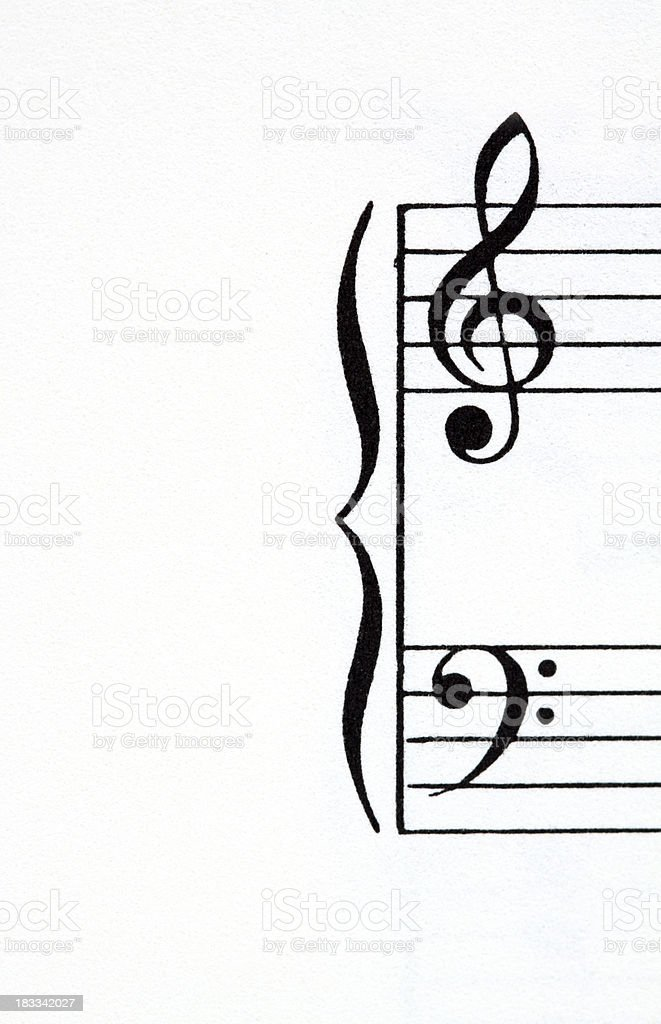 Close up of sheet music stock photo