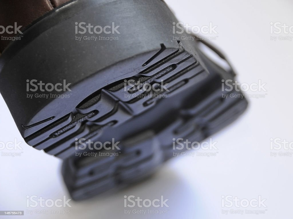 Close up of shoe sole stock photo