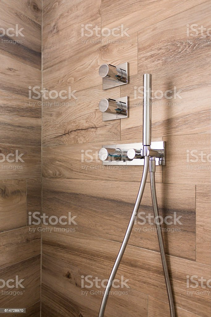 close up of Shower box in the bathroom stock photo