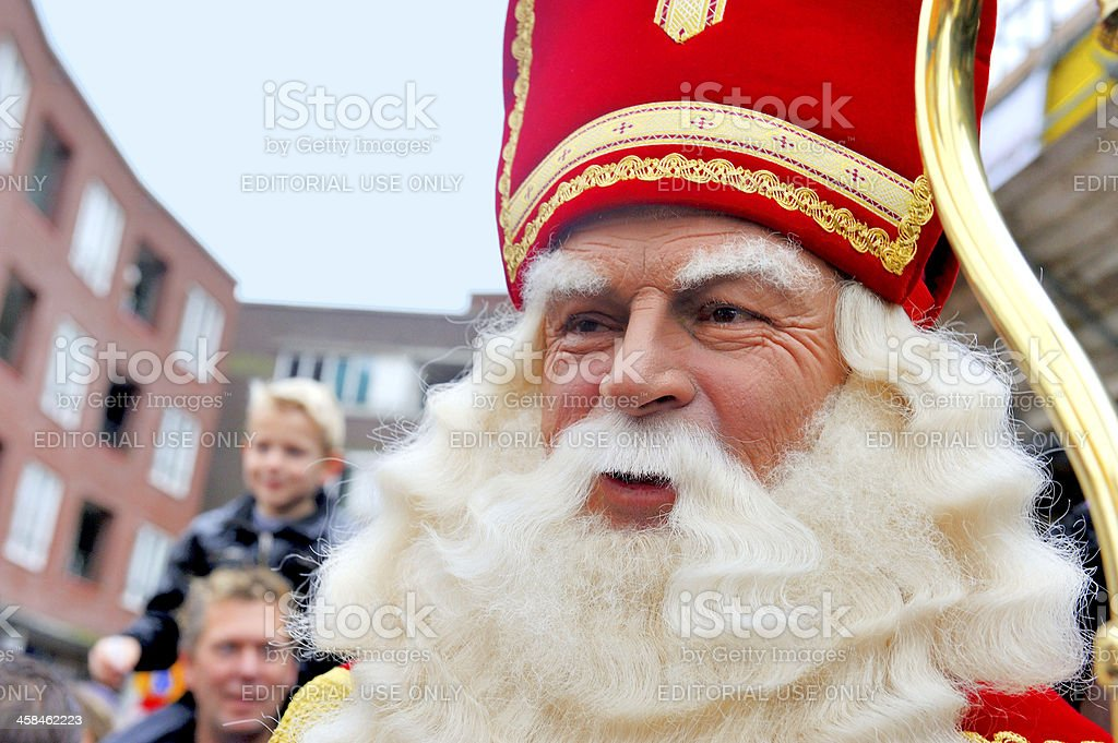 Close up of Sinterklaas stock photo