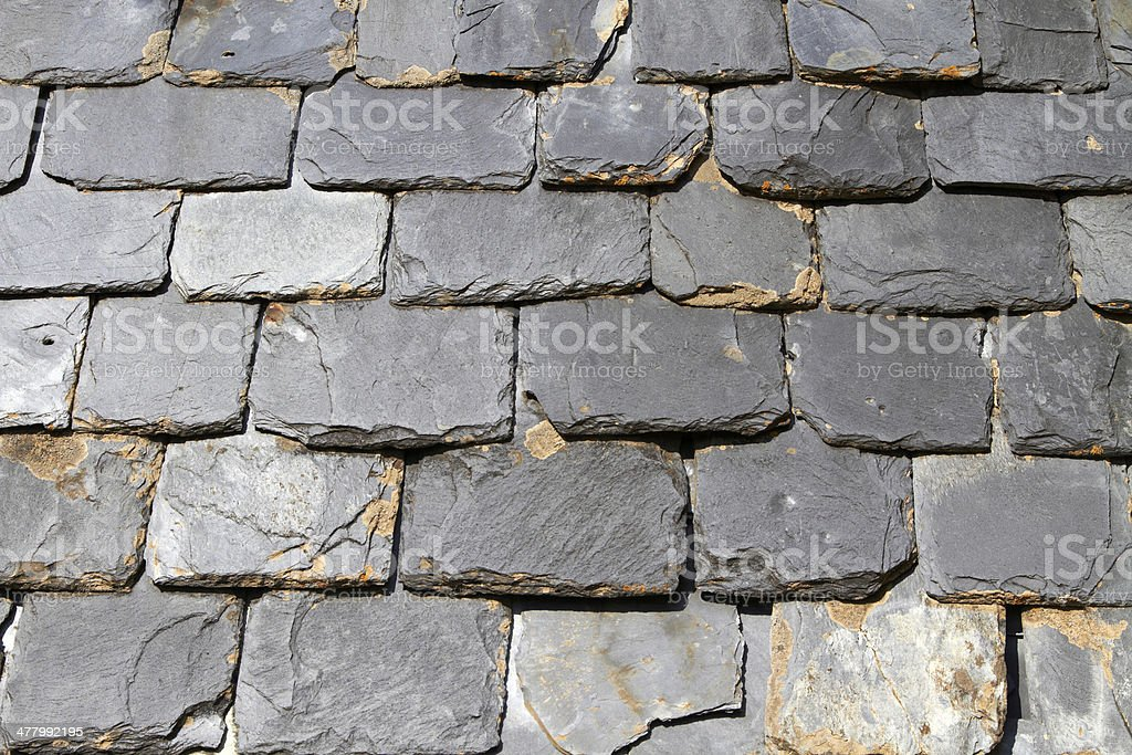 Close up of slate roof tiles background royalty-free stock photo