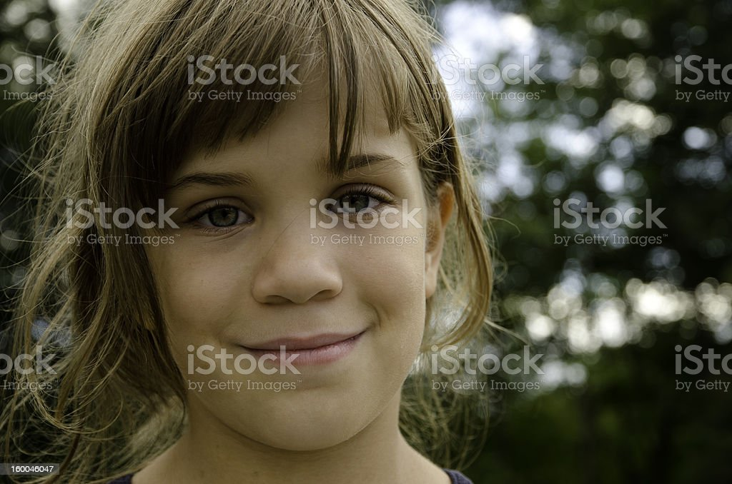 Close up of small child's face royalty-free stock photo