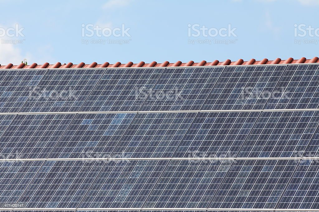 close up of Solarcell Solarpanel for eletricity stock photo
