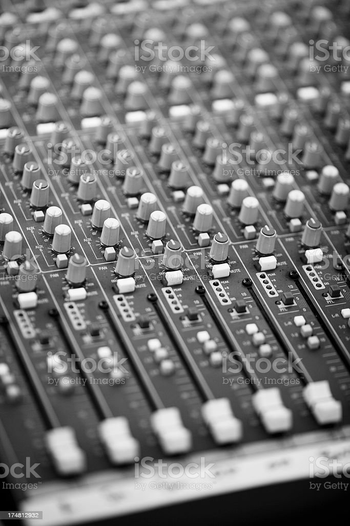 Close Up of Sound Board royalty-free stock photo