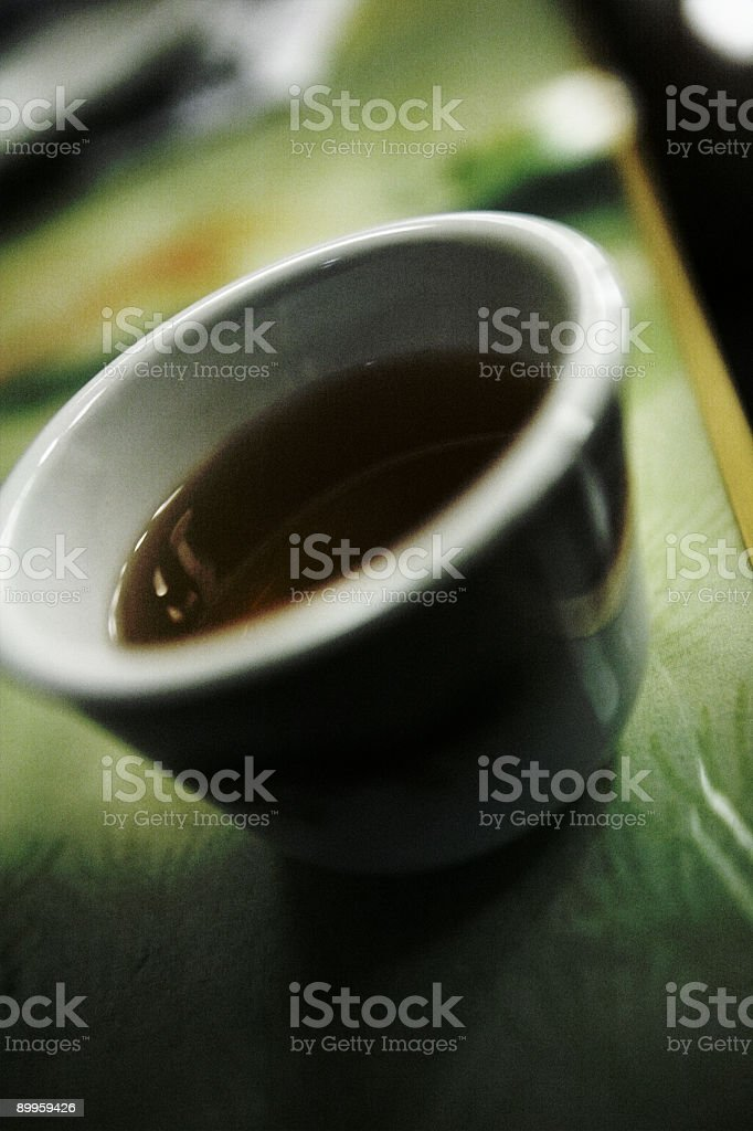 Close Up of Soy Sauce royalty-free stock photo