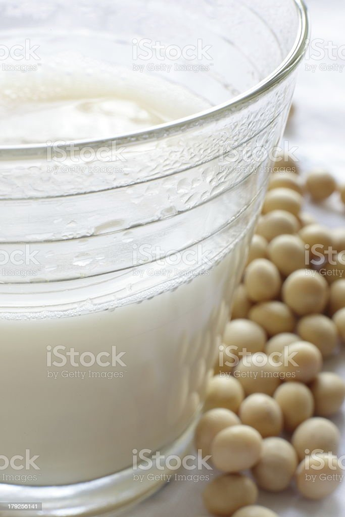 close up of soybean milk royalty-free stock photo