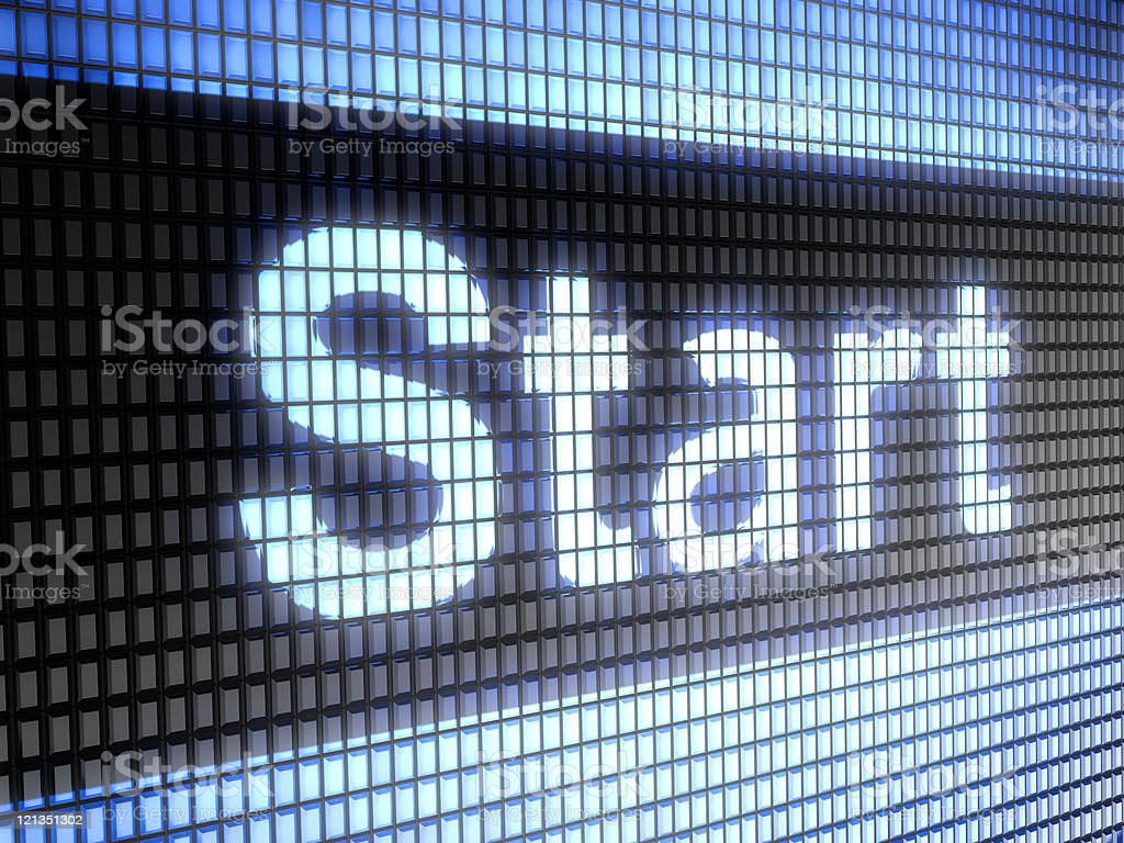 Close up of start word on computer screen royalty-free stock photo