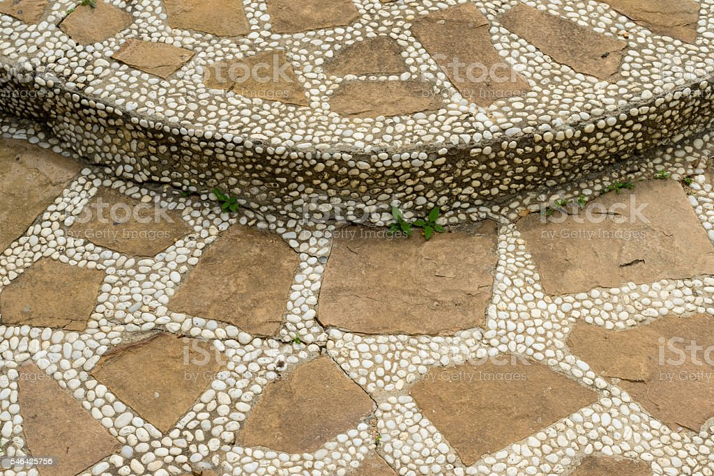 Close up of step on stone walkway photo libre de droits