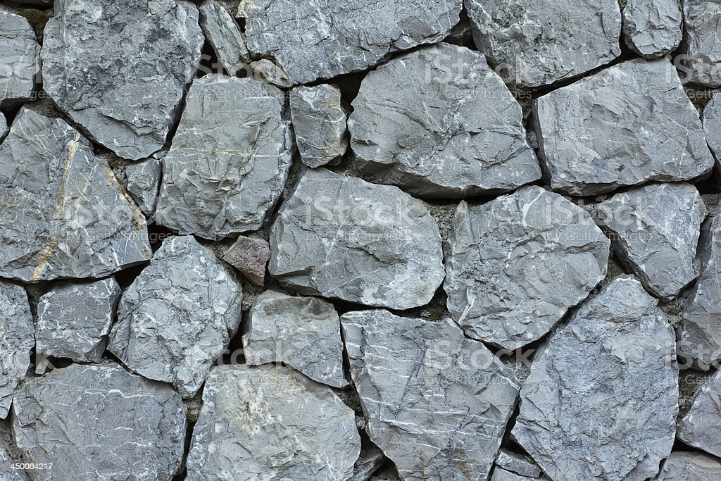 Close Up Of Stone Wall stock photo