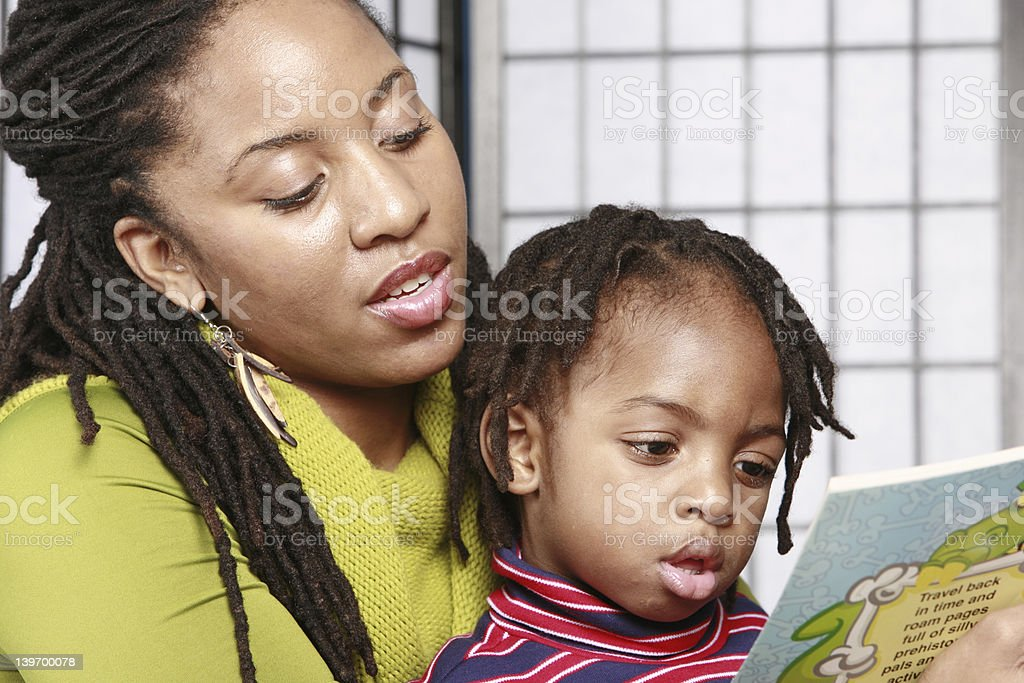 Close up of story time stock photo