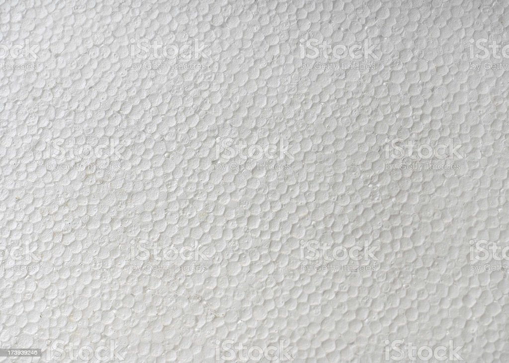 Close up of Styrofoam displaying each bead  royalty-free stock photo