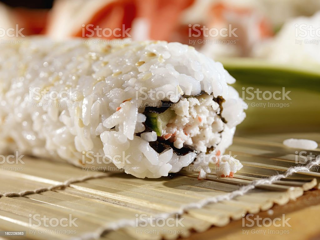 Close up of Sushi Roll royalty-free stock photo