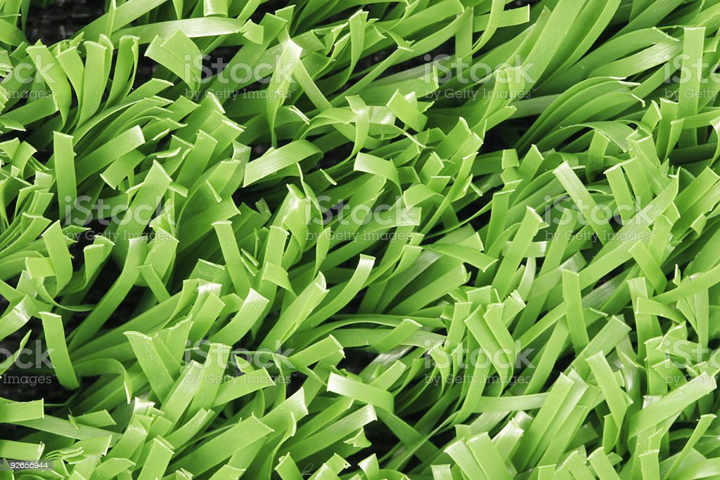 Close up of synthetic grass (Texture) royalty-free stock photo