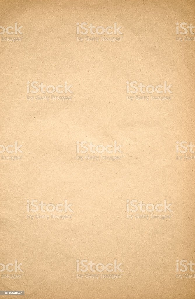 Close up of tan old paper background stock photo