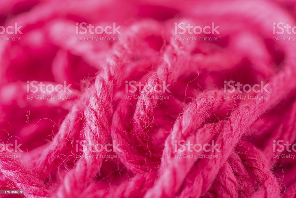 Close up of tangled red yarn royalty-free stock photo