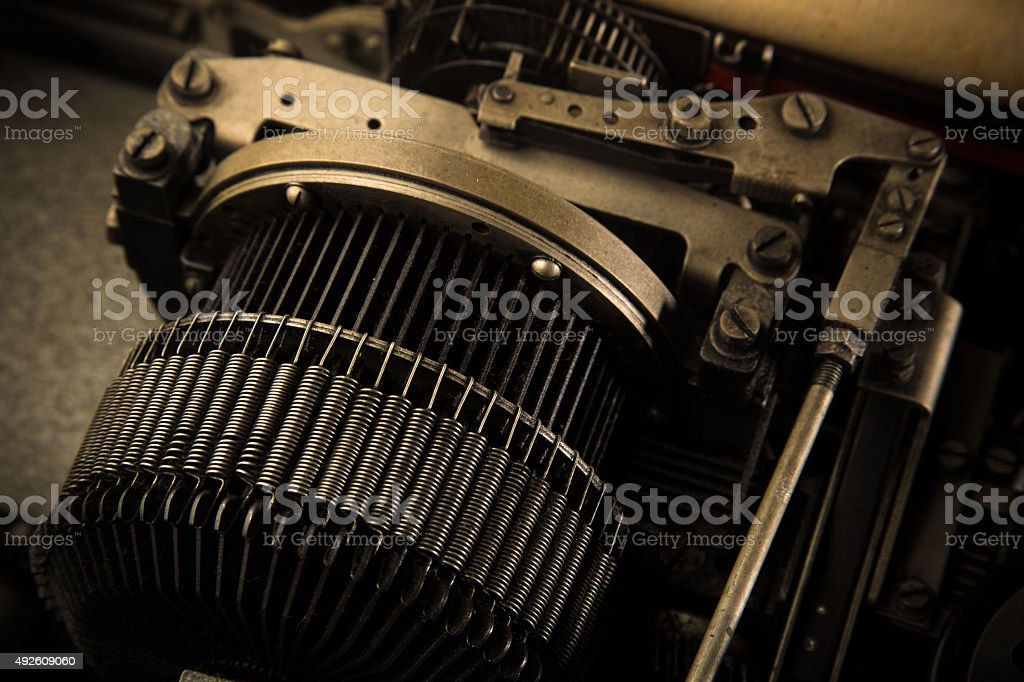 Close up of Teletype Machine stock photo