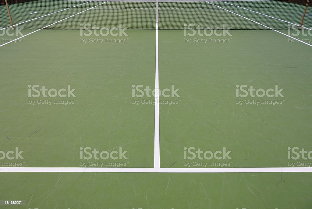 Close up of tennis court and net royalty-free stock photo