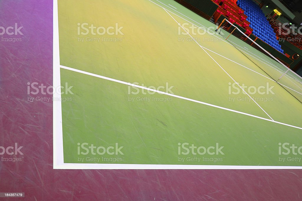 Close up of tennis court lines royalty-free stock photo