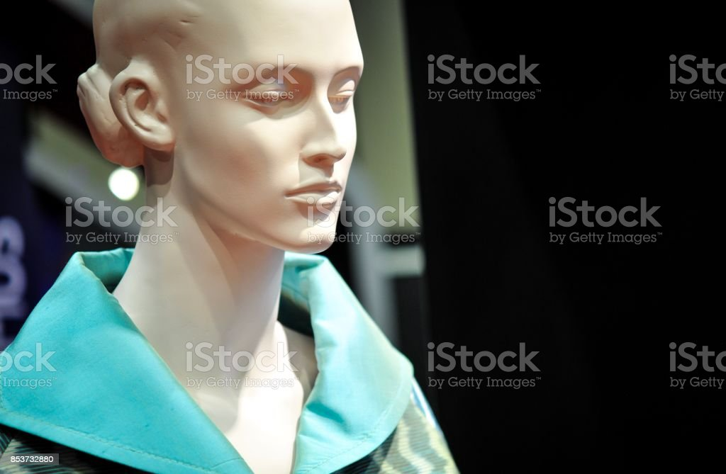 close up of Thai silk clothing on mannequins in a fashion store....
