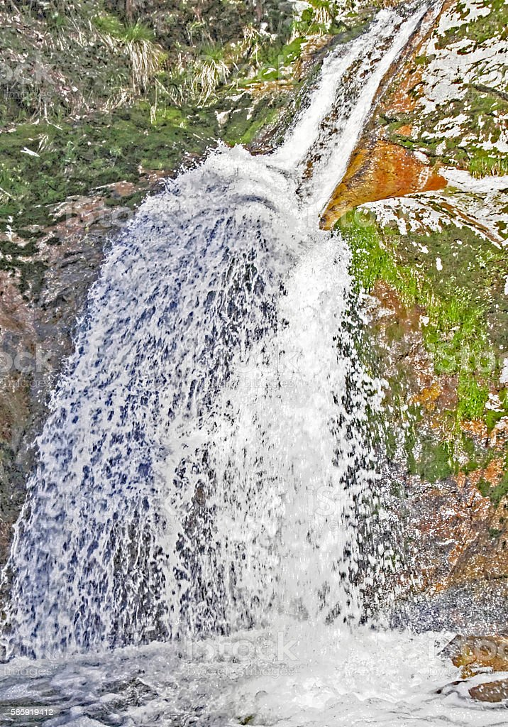 Close up of the Allerheiligen waterfalls in the Black Forest stock photo