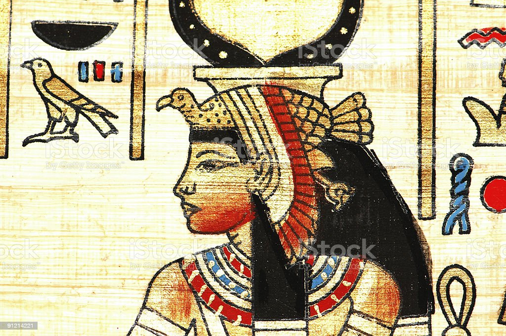Close up of the ancient egyptian papyrus royalty-free stock photo