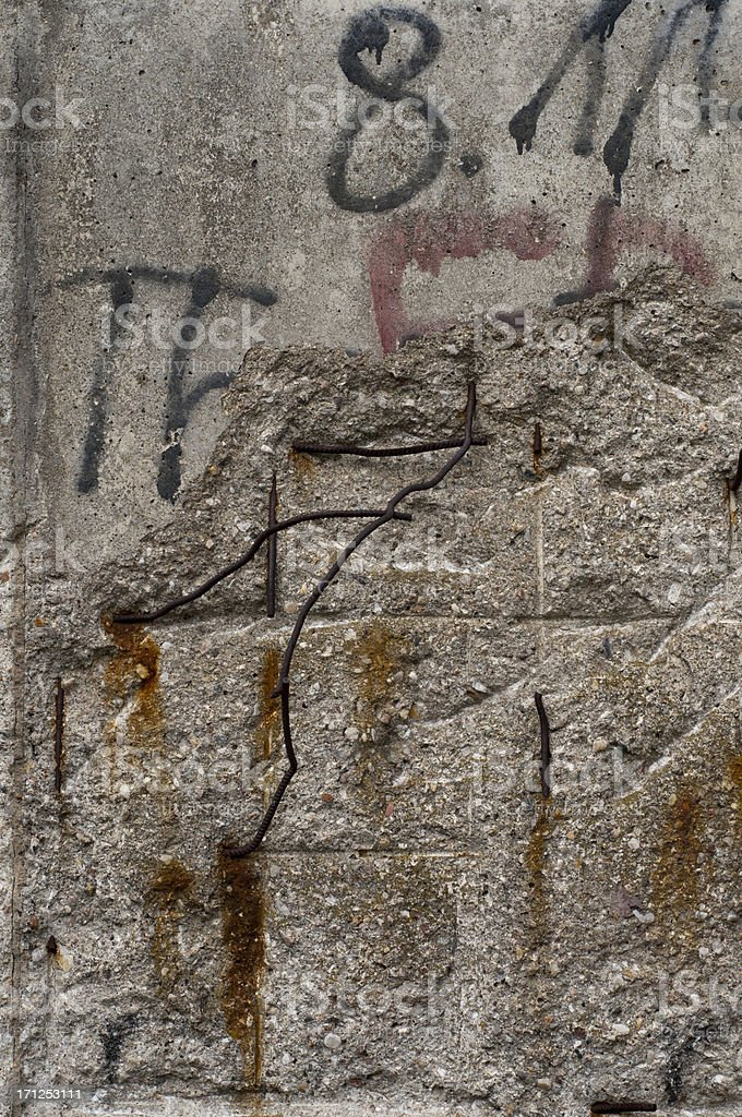 Close up of the Berlin Wall, Germany stock photo