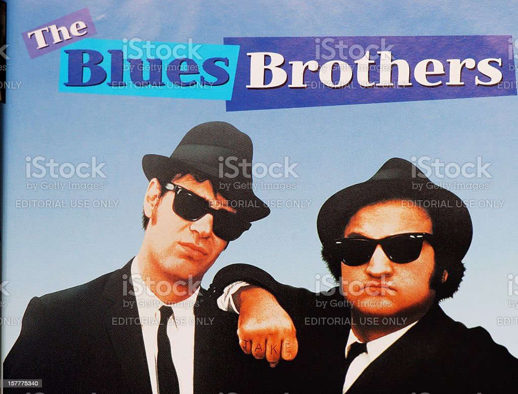 Close up of The Blues Brothers DVD cover stock photo
