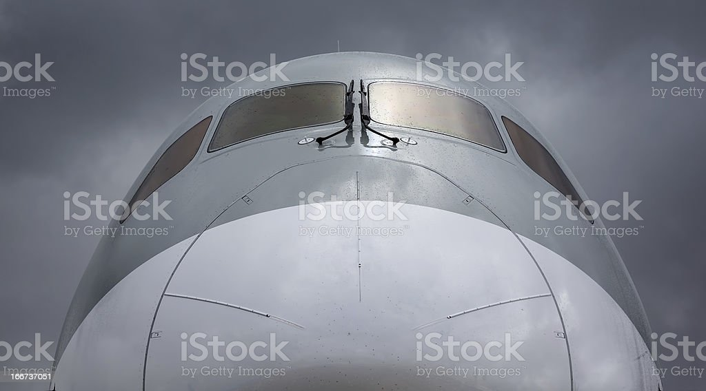 A close up of the Boeing 787 Dreamliner royalty-free stock photo
