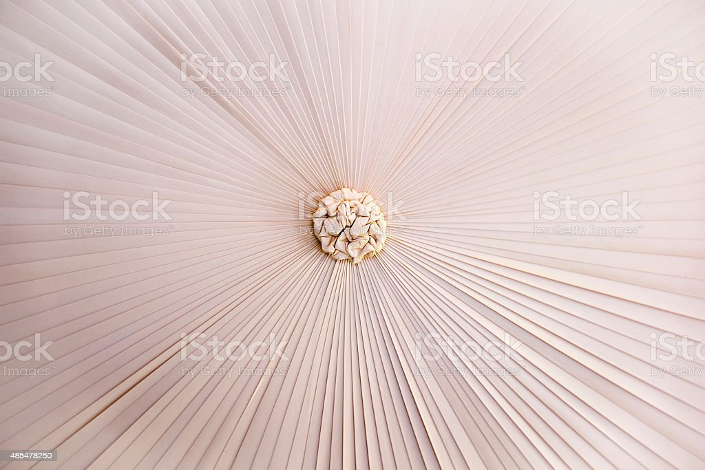 Close up of the canopy of a four poster bed stock photo