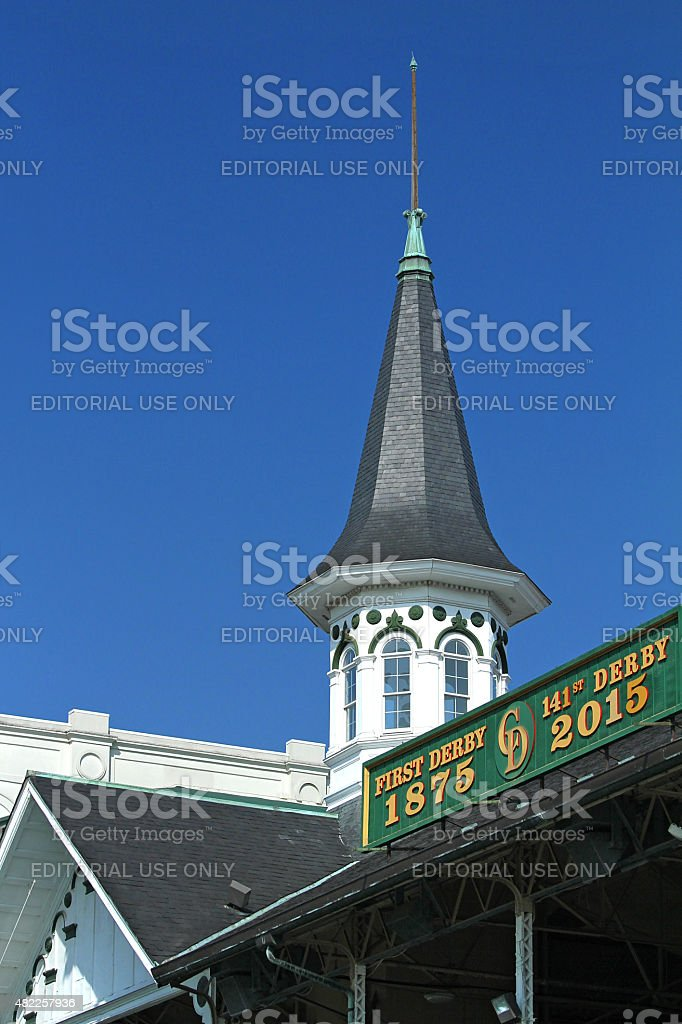 Close up of the Churchill Downs steeple stock photo