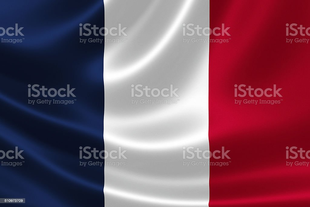 Close up of the flag of France stock photo