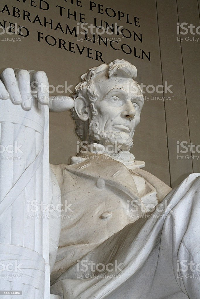 Close up of the Lincoln Memorial stock photo