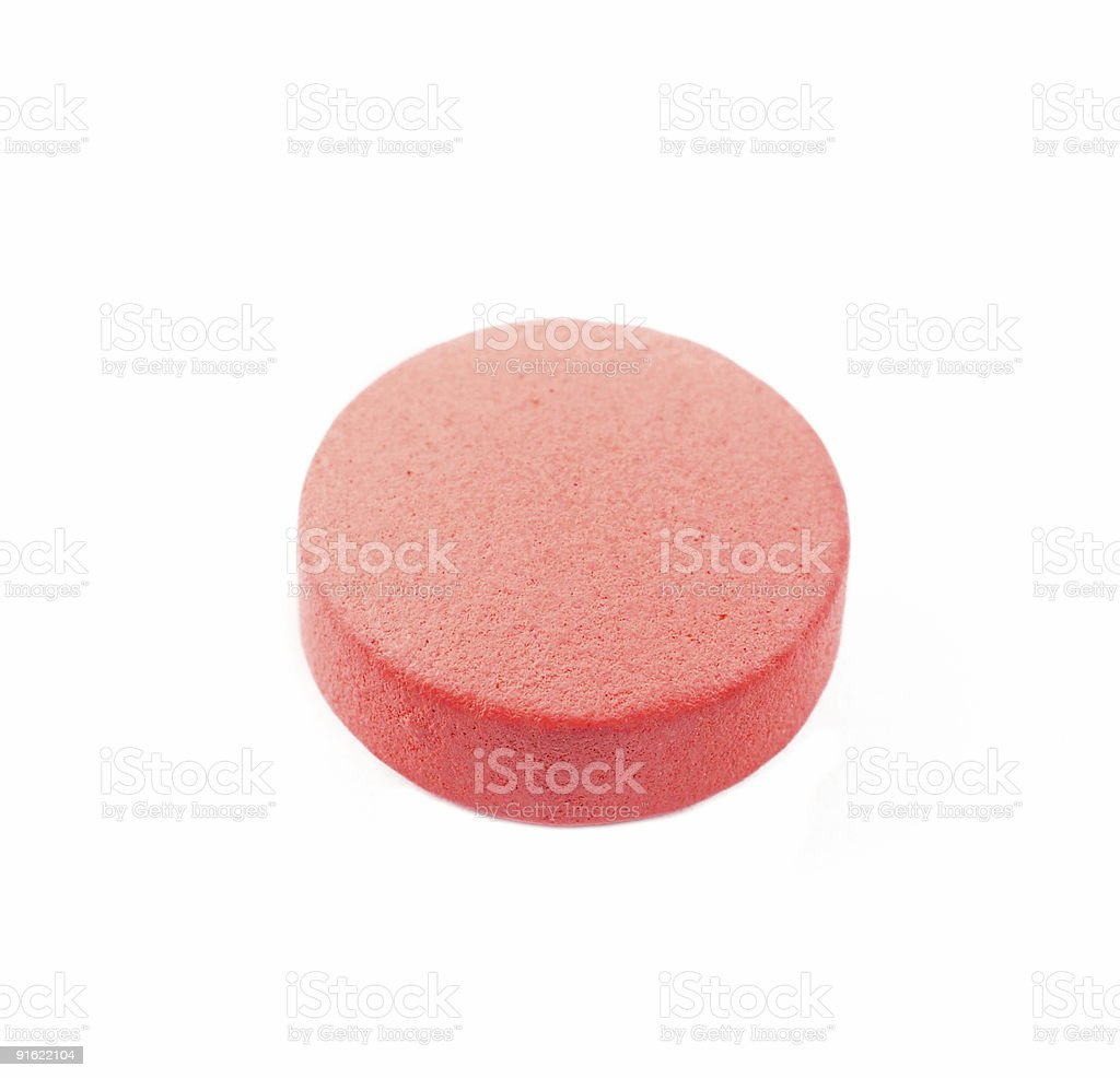 close up of the pill isolated on white stock photo