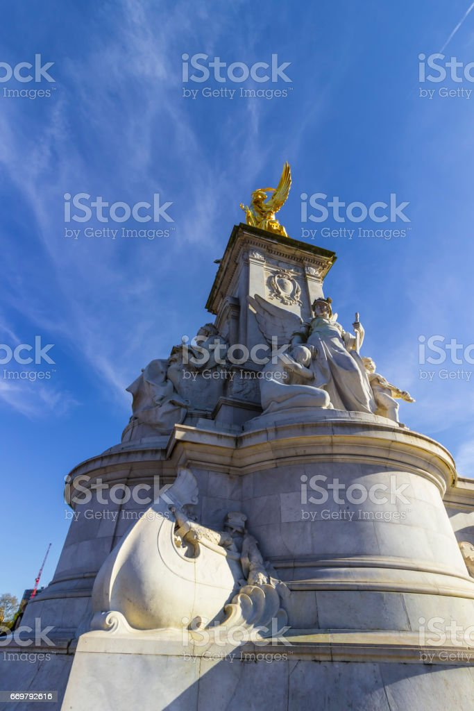 Close up of the Queen Victoria Memorial in London stock photo